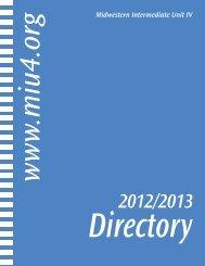 2012-2013 MIU IV Directory - Midwestern Intermediate Unit IV