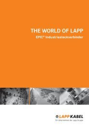 THE WORLD OF LAPP N INE - Bachofen AG