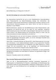 Pressemeldung - in der Berndorf AG