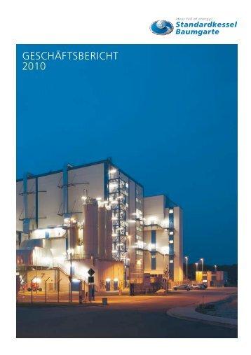 GESCHÄFTSBERICHT 2010 - Standardkessel Baumgarte