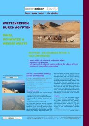 ägypten, sahara & sinai: wuestenreisen-kameltrekking