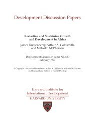 Development Discussion Papers - Center for International ...