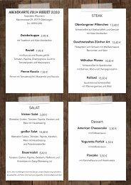 Speisekarte Gaststätte Weymann