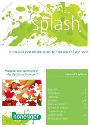 le magazine pour collaborateurs de Honegger SA | sept. 2011 dans ...