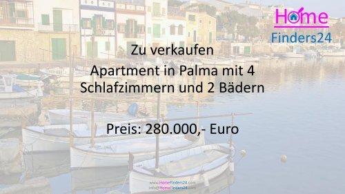 Im Zentrum von Palma de Mallorca bieten wir diese 4-Schlafzimmer-Wohnung zum Verkauf an (AP0024)