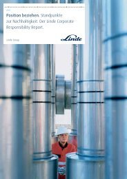CR Report 2005 - The Linde Group