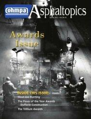 ASPHALTopics | Spring 2011 | VOL 24 | NO 1
