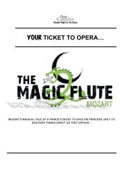 YOUR TICKET TO OPERA… - Opera Carolina