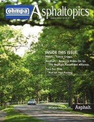 ASPHALTopics | Summer 2011 | VOL 24 | NO 2
