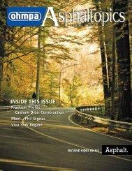 ASPHALTopics | Fall 2011 | VOL 24 | NO 3
