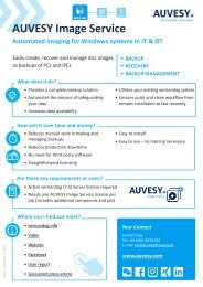 OnePager AUVESY Image Service