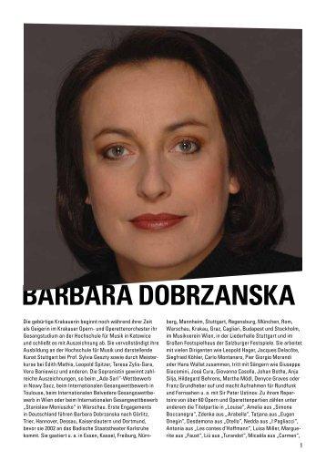BARBARA DOBRZANSKA - Badisches Staatstheater - Karlsruhe