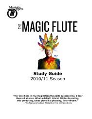The Magic Flute Study Guide - Manitoba Opera