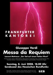Messa da Requiem - Frankfurter Kantorei