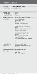 Programm als PDF zum ausdrucken - Berner Kammerorchester