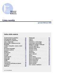 delle materie - Sistema bibliotecario ticinese