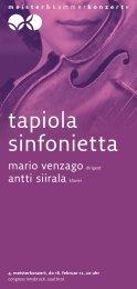 tapiola sinfonietta - Meister & Kammerkonzerte