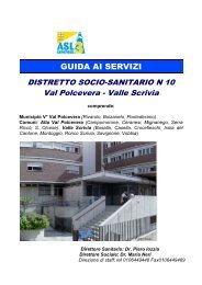 servizi distrettuali - ASL n.3 Genovese