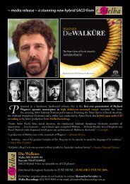 media release ~ a stunning new hybrid SACD from Die ... - Mall Music