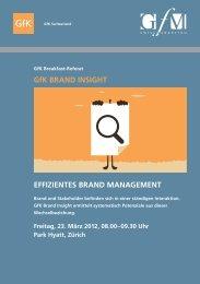 GfK BRAND INSIGHT EFFIZIENTES BRAND ... - GfK Switzerland
