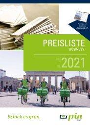 PIN AG - Preisliste Business ab 01.2021