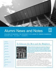Alumni News and Notes - College of Business - University of Illinois ...