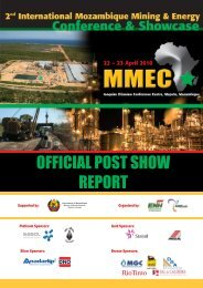 official post show report - Mozambique Mining & Energy Conference