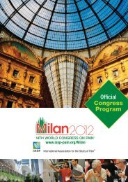 Congress Program - International Association for the Study of Pain