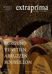 Extraprima Magazin Herbst 2020: Burgund, Venetien, Abruzzen, Roussillon