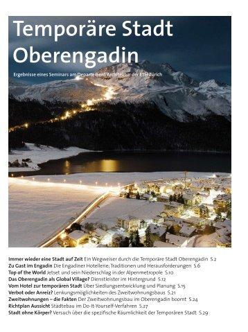 Temporäre Stadt Oberengadin - Berggebiete.ch