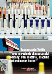 "Basyazıcıoglu Textile ""Three ingredients of a successful company ..."