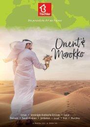 Tischler Reisen - Orient & Marokko 2020-21