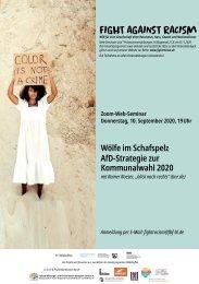 Web-Seminar: Wölfe im Schafspelz - AfD-Strategie zur NRW-Kommunalwahl 2020