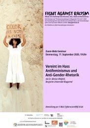 Web-Seminar: Vereint im Hass - Antifeminismus und Anti-Gender-Rhetorik