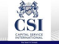 CSI - Capital Service International • the best in invest   Unternehmensvorstellung • Achtung: zum vergössern auf das Bild klicken!