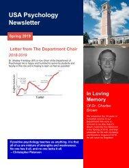 USA Psychology Newsletter 2018-2019