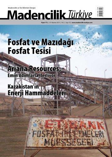 Mayıs 2011 - Madencilik Türkiye Dergisi