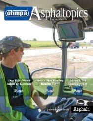 ASPHALTopics | Fall 2012 | VOL 25 | NO 3