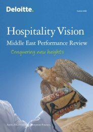 Middle East Performance Review - Oman Ministry of Tourism