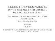 Theileria annulata - International Livestock Research Institute (ILRI)
