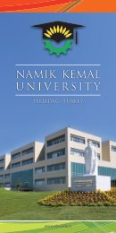 NAMIK KEMAL UNIVERSITY - Namık Kemal Üniversitesi