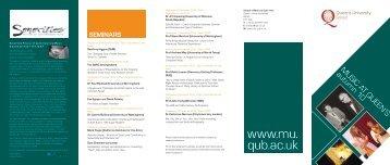 www.mu. qub.ac.uk - Queen's University Belfast