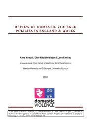 Review of domestic violence policies in England