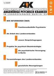 Aus der psychiatrische Versorgung in Berlin - Angehörige psychisch ...
