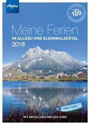 Meine Ferien im Allgäu und Kleinwalsertal mit der Allgäu-Walser-Card 2018