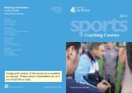Sports Coaching Courses 2013 - University of Chichester
