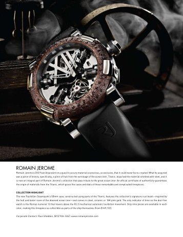 ROMAIN JEROME - Elite Traveler