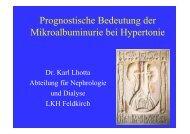 Prognostische Bedeutung der Mikroalbuminurie bei Hypertonie