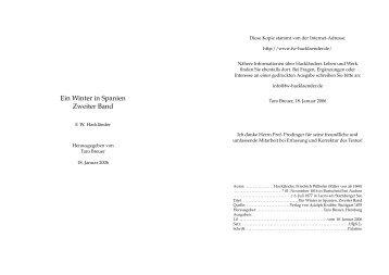 Ein Winter in Spanien Zweiter Band - Friedrich Wilhelm Hackländer