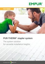 PUR-THERM stapler system en